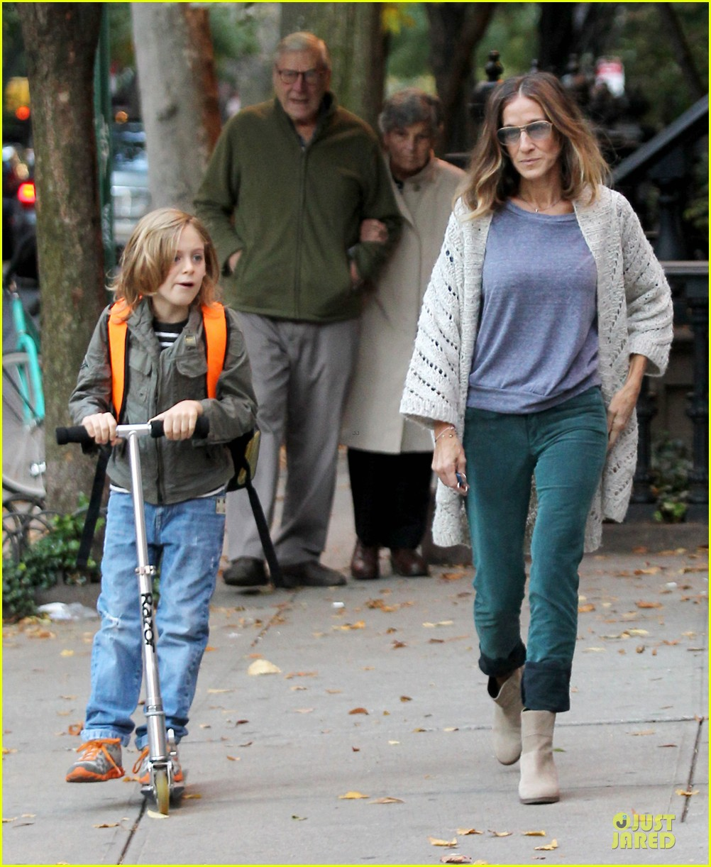 sarah jessica parker school walk with james marion tabitha 152743830