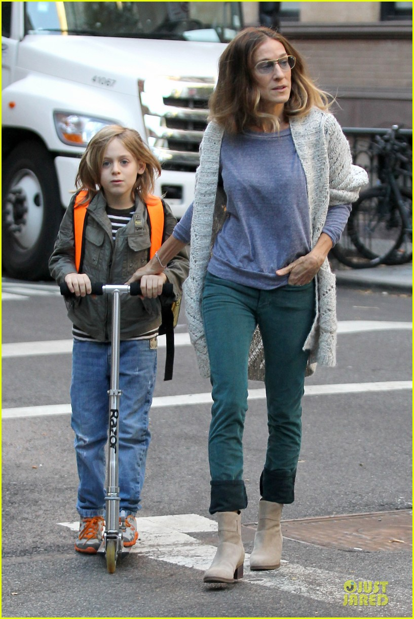 sarah jessica parker school walk with james marion tabitha 162743831
