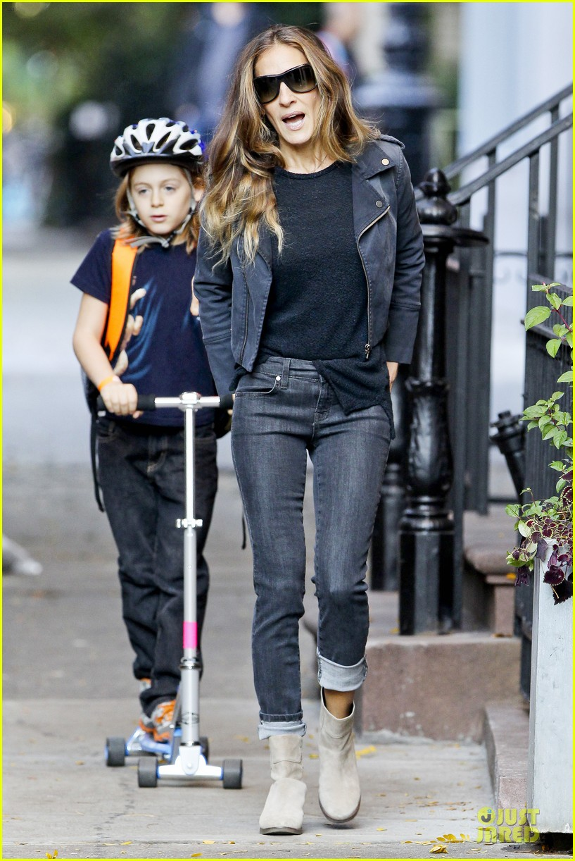 sarah jessica parker school walk with james marion tabitha 18