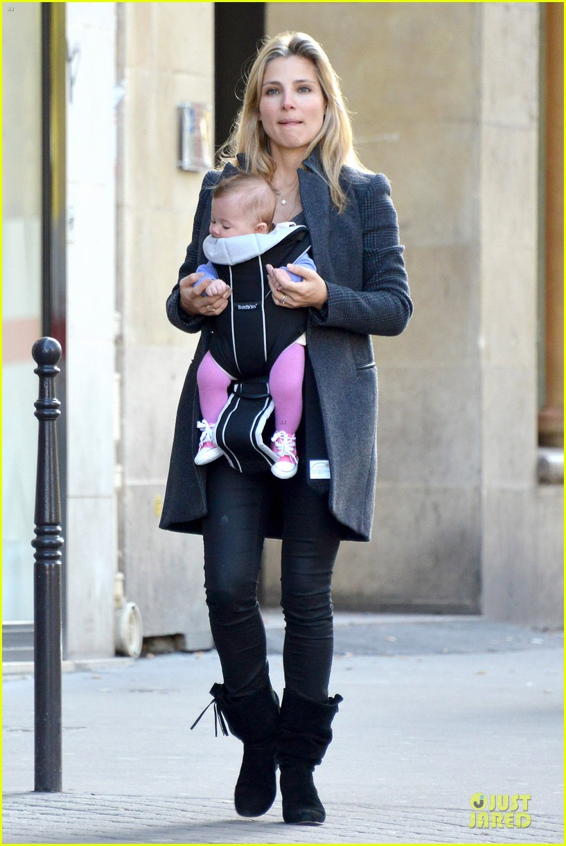 elsa pataky paris stroll with india 012733756