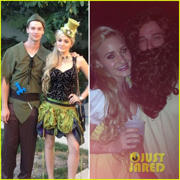 patrick schwarzenegger halloween parties with aj michalka 032747550