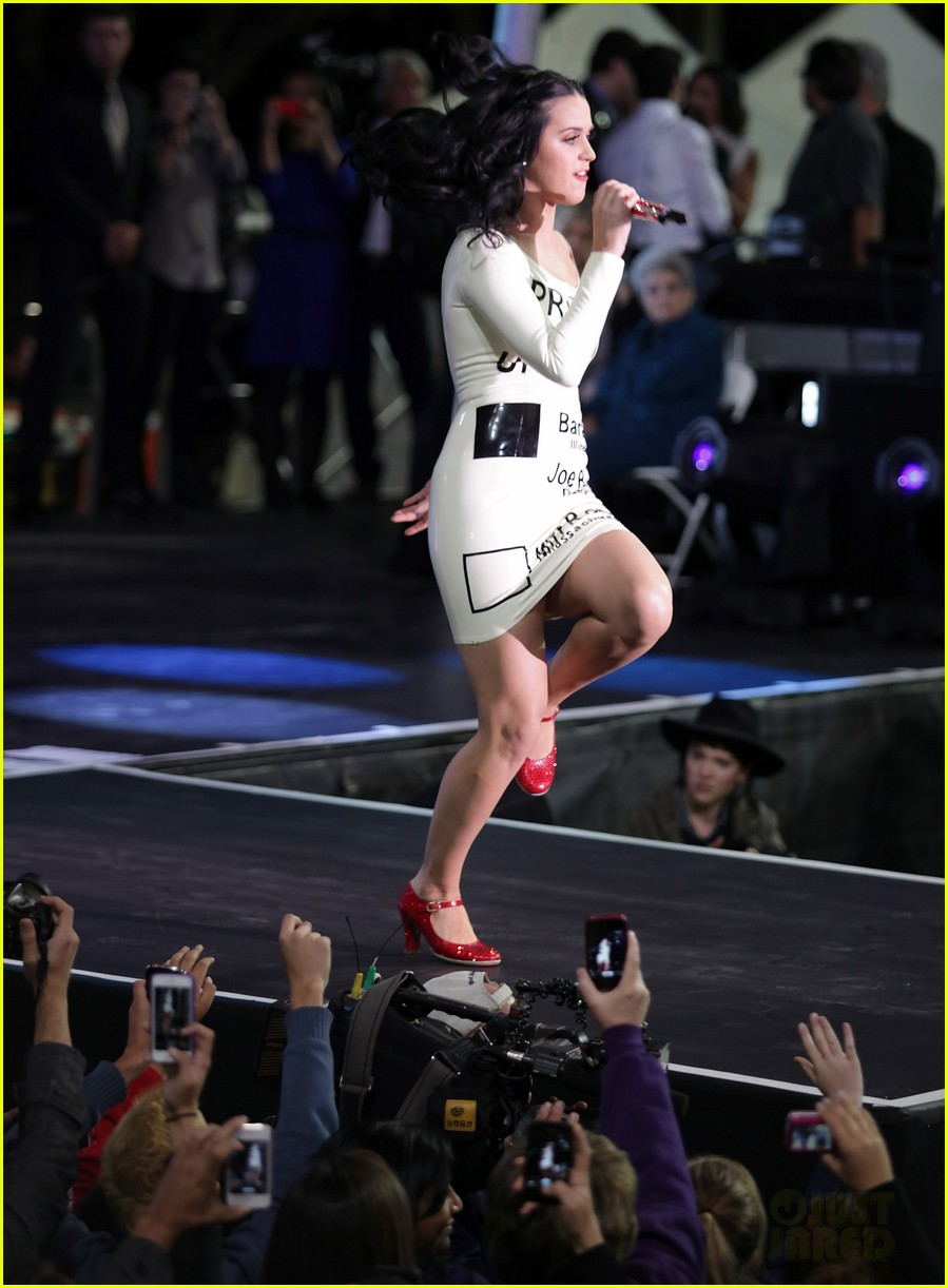 katy perry voting ballot dress at obama rally 062744573