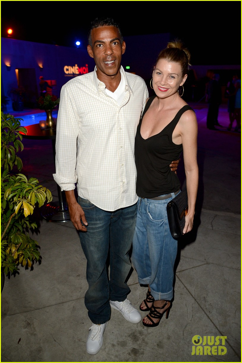 ellen pompeo cinemoi launch party with chris ivery 012732323