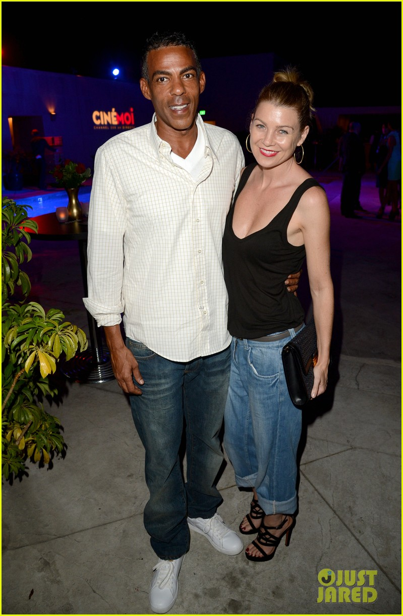 ellen pompeo cinemoi launch party with chris ivery 052732327