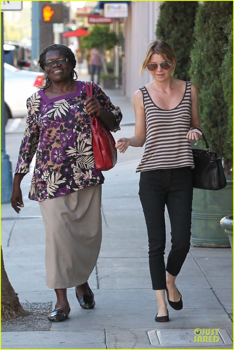 ellen pompeo ice cream sunday with mother in law 042747360