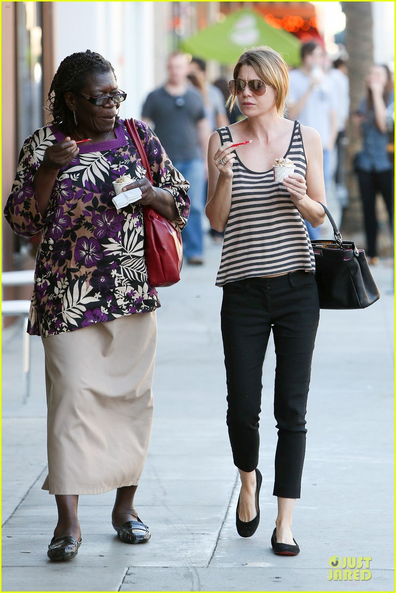 ellen pompeo ice cream sunday with mother in law 092747365