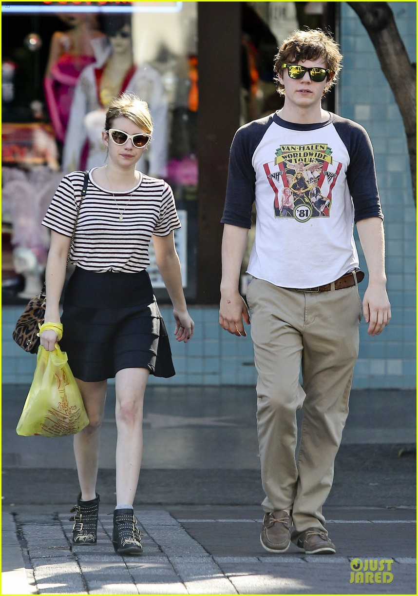 emma roberts evan peters halloween costume shopping 102746049