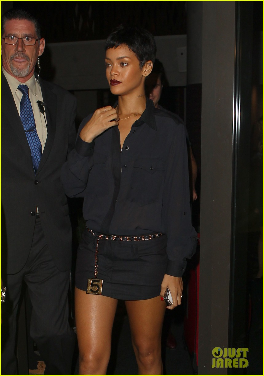 rihanna chris brown gansevoort hotel departure 062732683