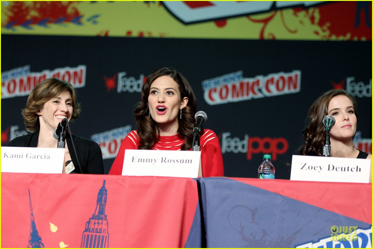 emmy rossum beautiful creatures comic con panel 132737743