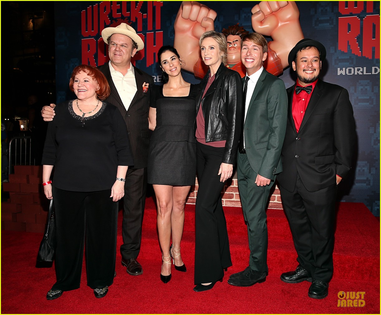 sarah silverman john c reilly wreck it ralph premiere 032748225