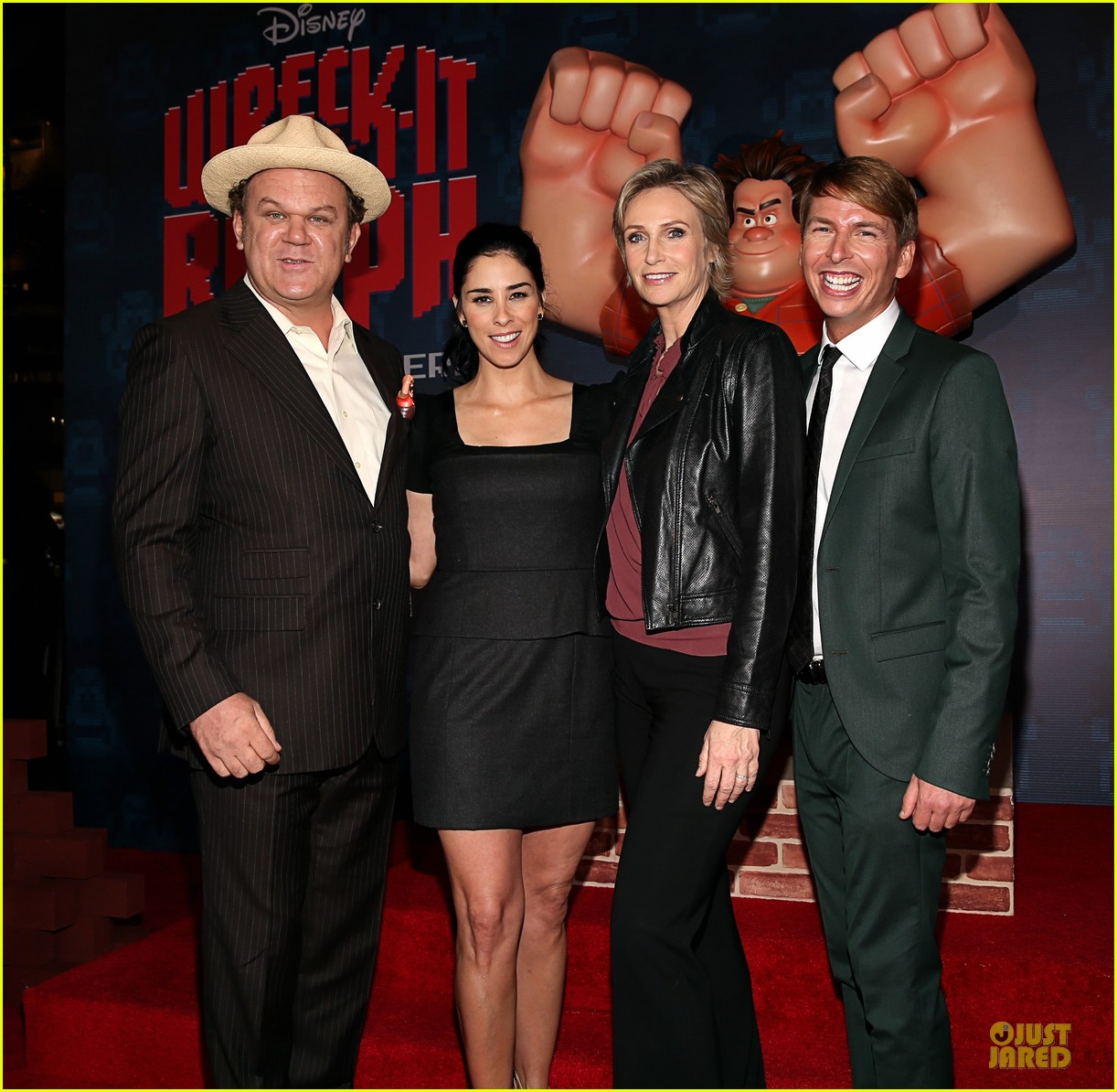 sarah silverman john c reilly wreck it ralph premiere 212748243