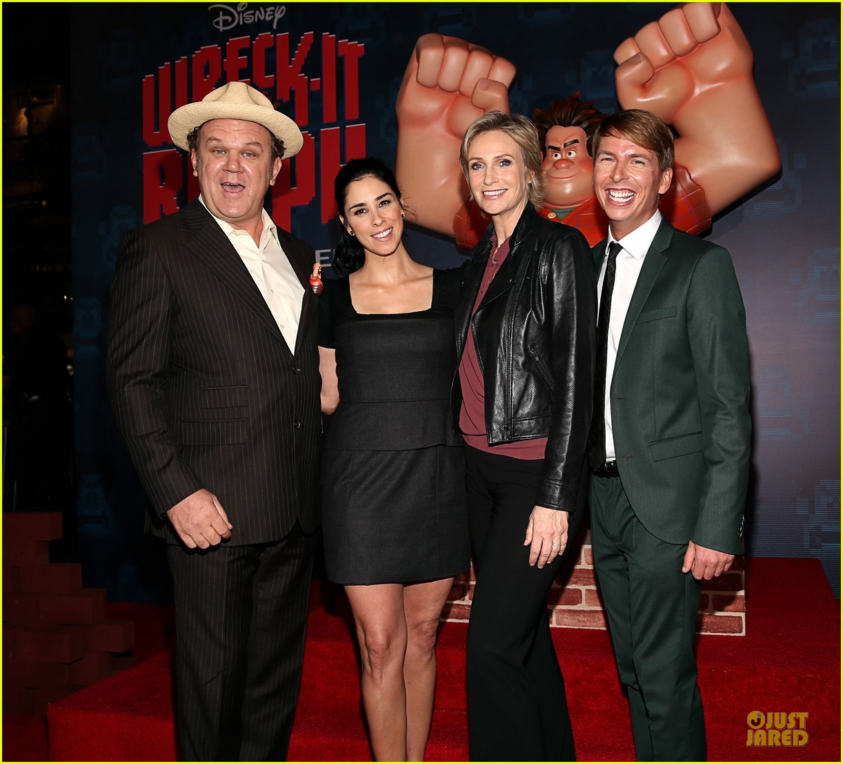 sarah silverman john c reilly wreck it ralph premiere 24
