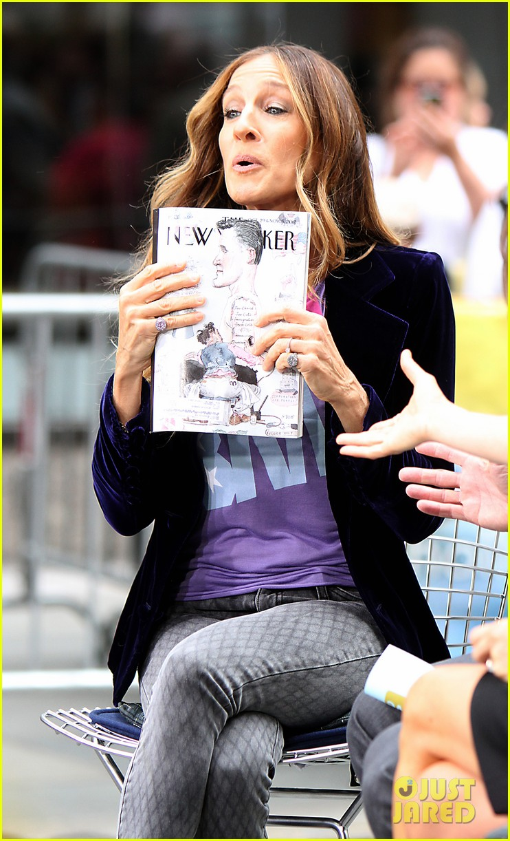 sarah jessica parker supports president obama on access hollywood 042744959