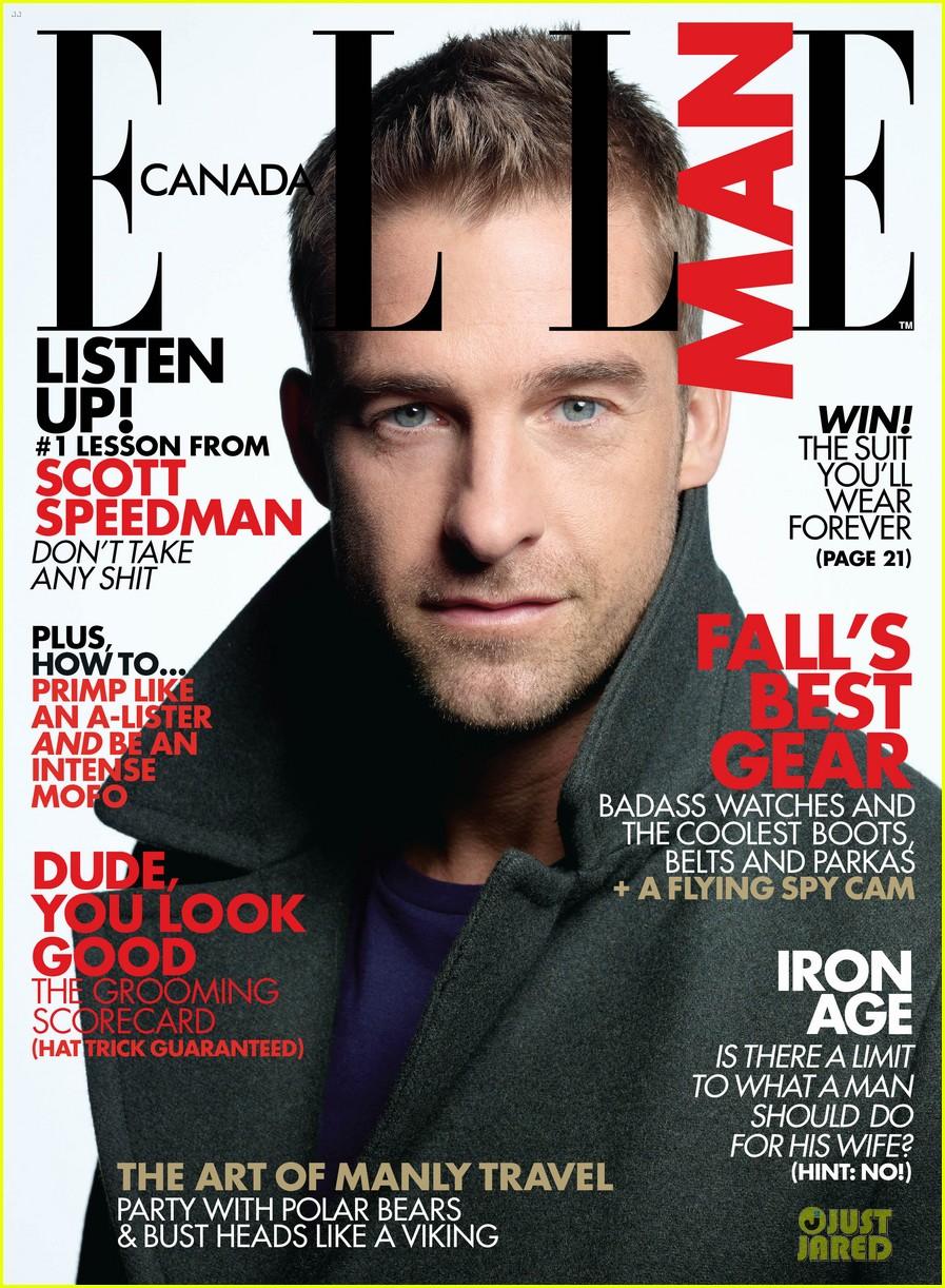Scott Speedman Covers 'Elle Man' November 2012: Photo ...