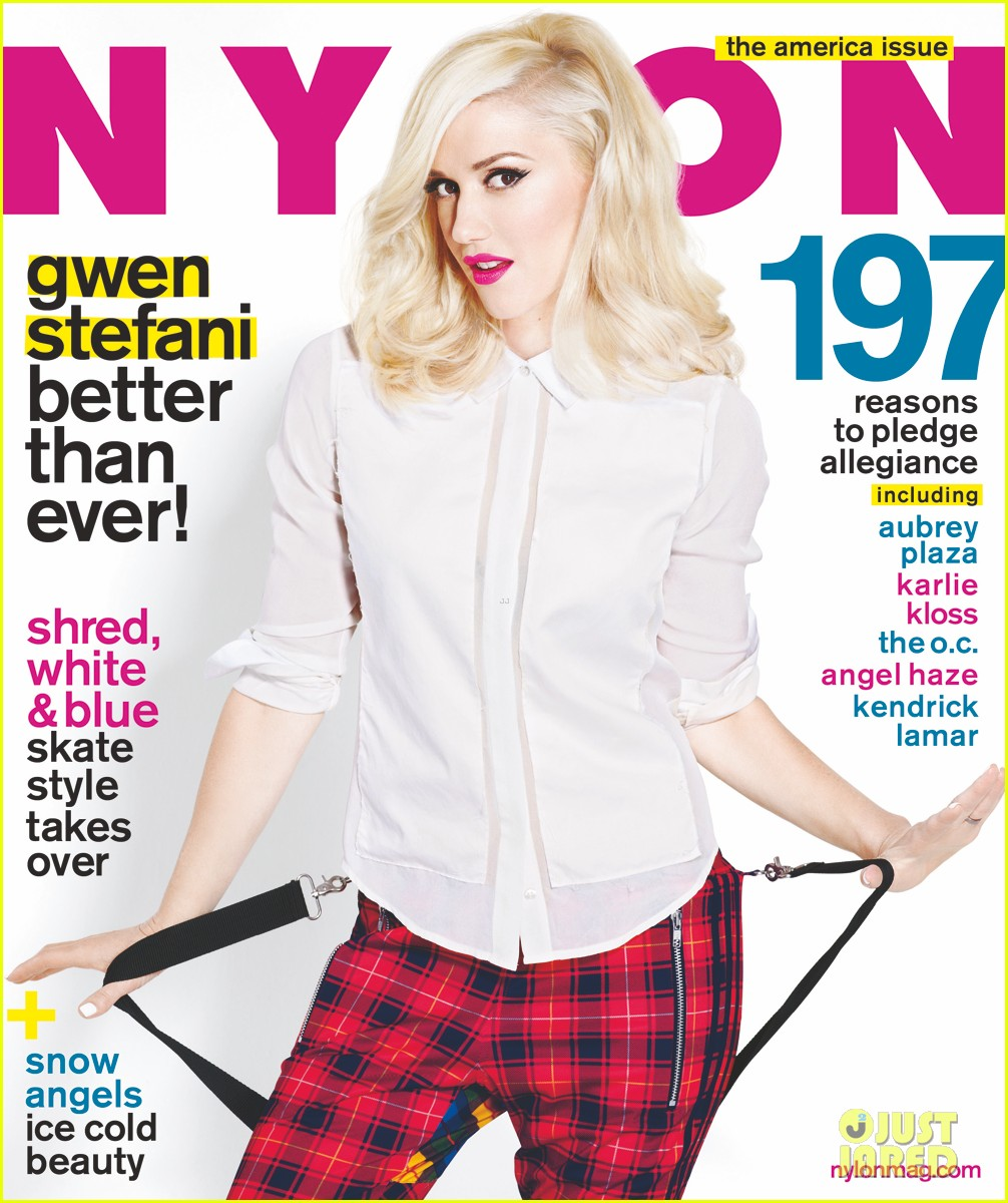 gwen stefani covers nylon magazine exclusive pic 02