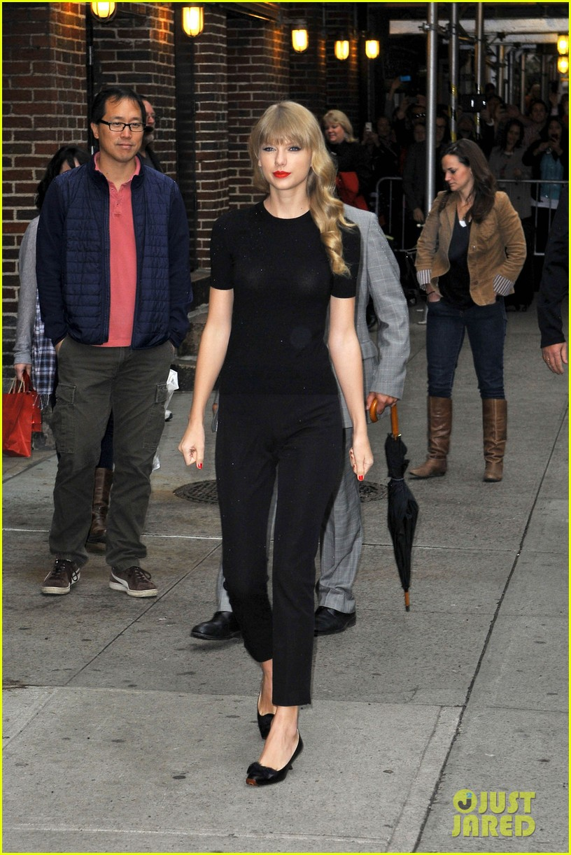 taylor swift late show with david letterman guest 012743592