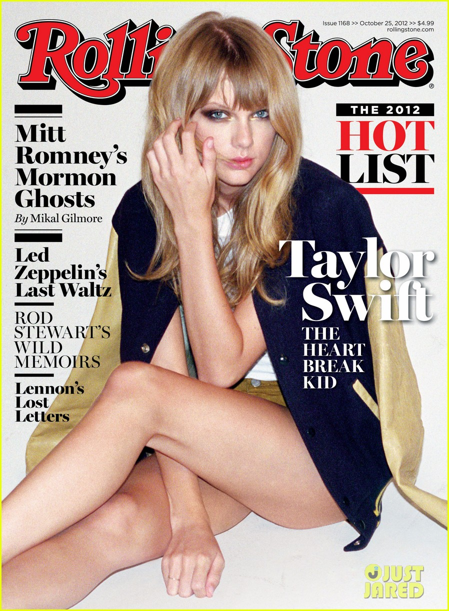 taylor swift covers rolling stone hot list issue 012736100