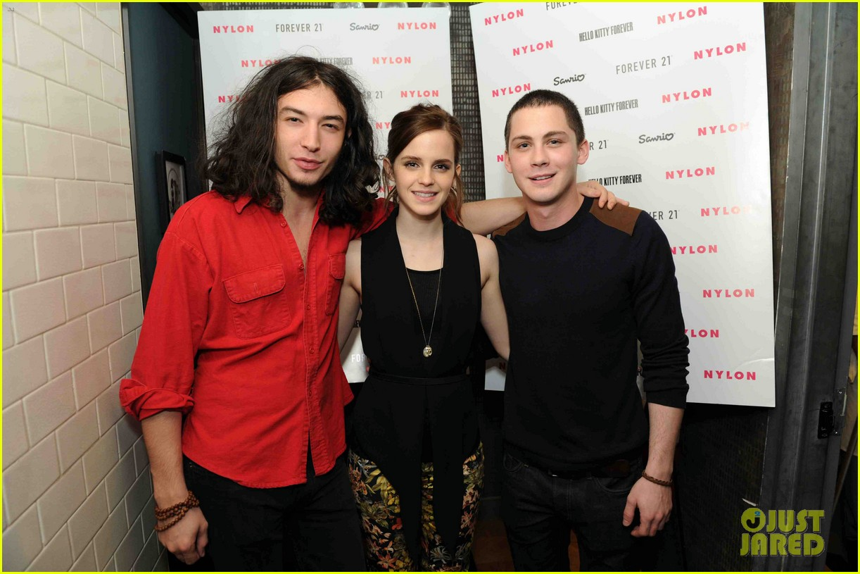 emma watson nylon dinner with logan lerman ezra miller 04