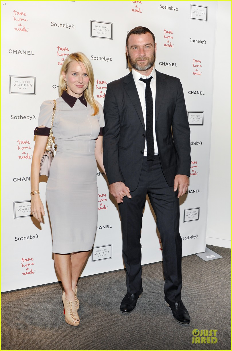 naomi watts liev schreiber take home a nude benefit art auction 012741387