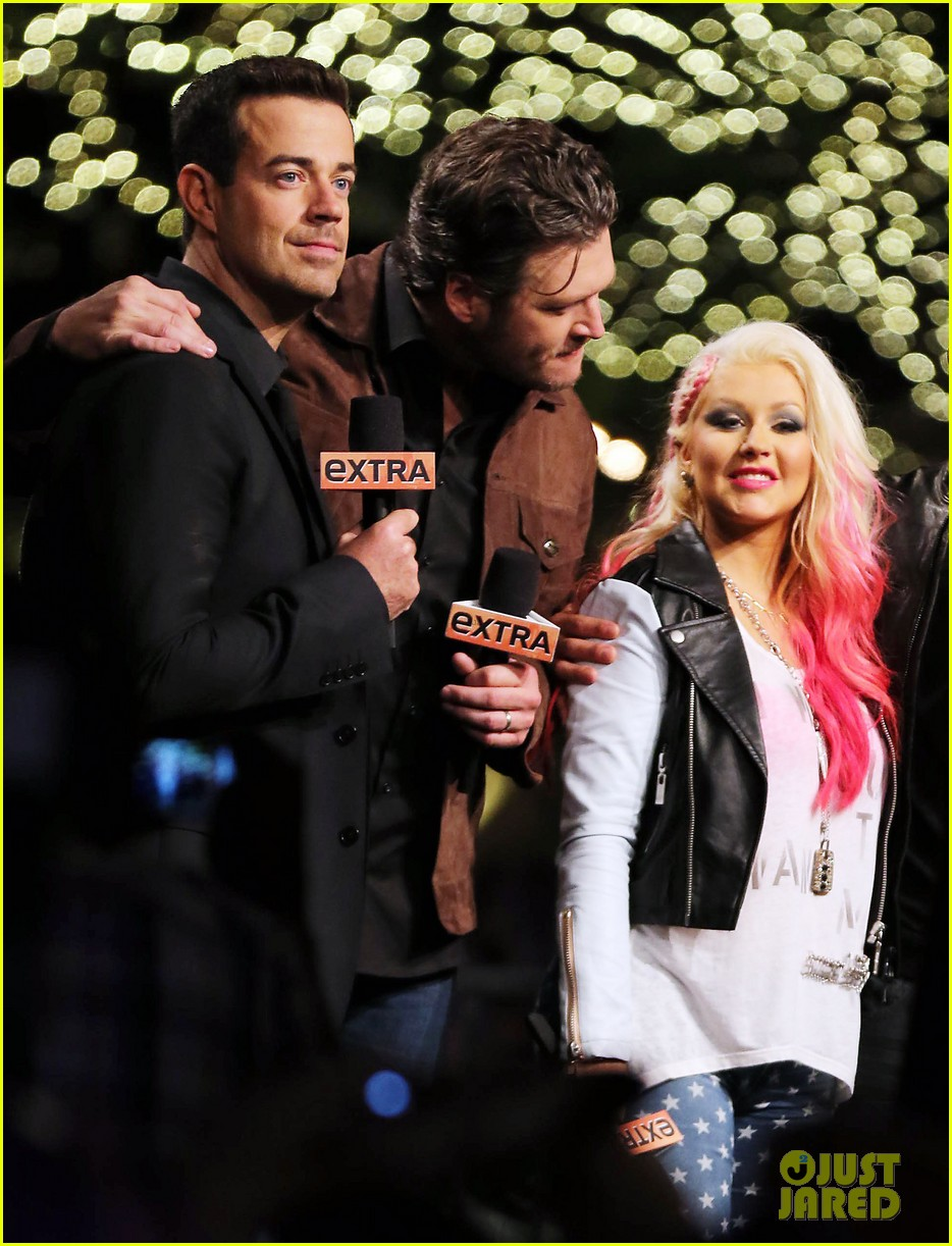 christina aguilera the voice at the grove 102751806