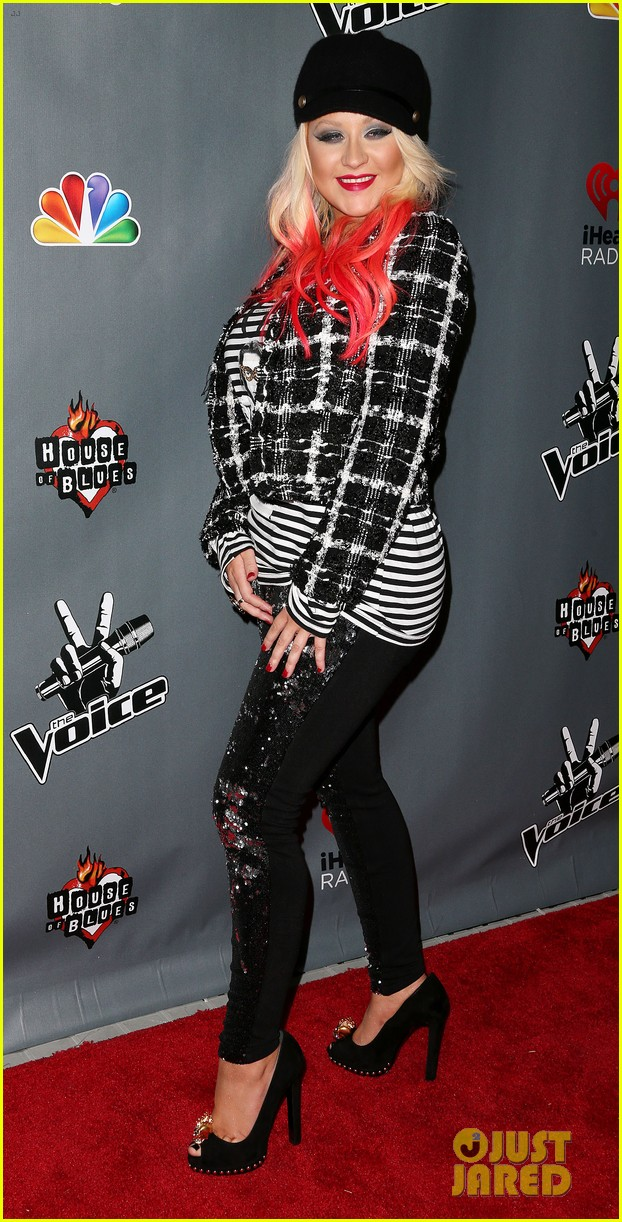 christina aguilera the voice final 12 party with adam levine 102754159