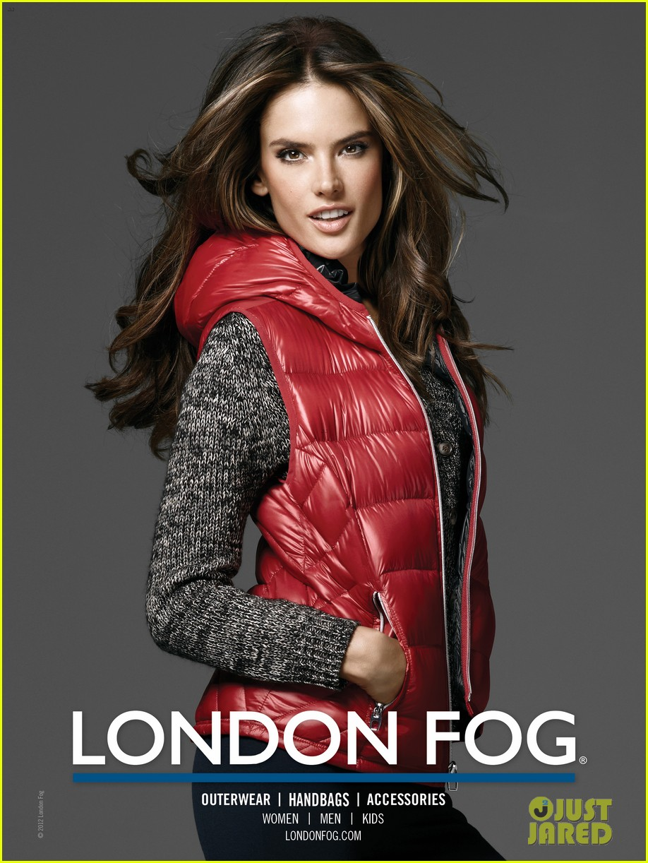 alessandra ambrosio london fog campaign with anja 072755111
