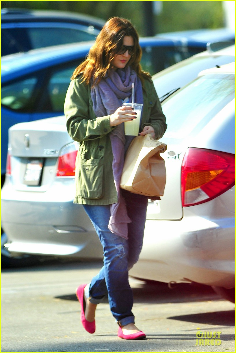 drew barrymore culver city lunch stop 09