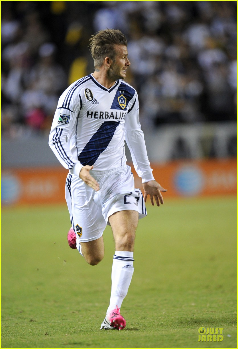 david beckham galaxy game with the boys 142751292