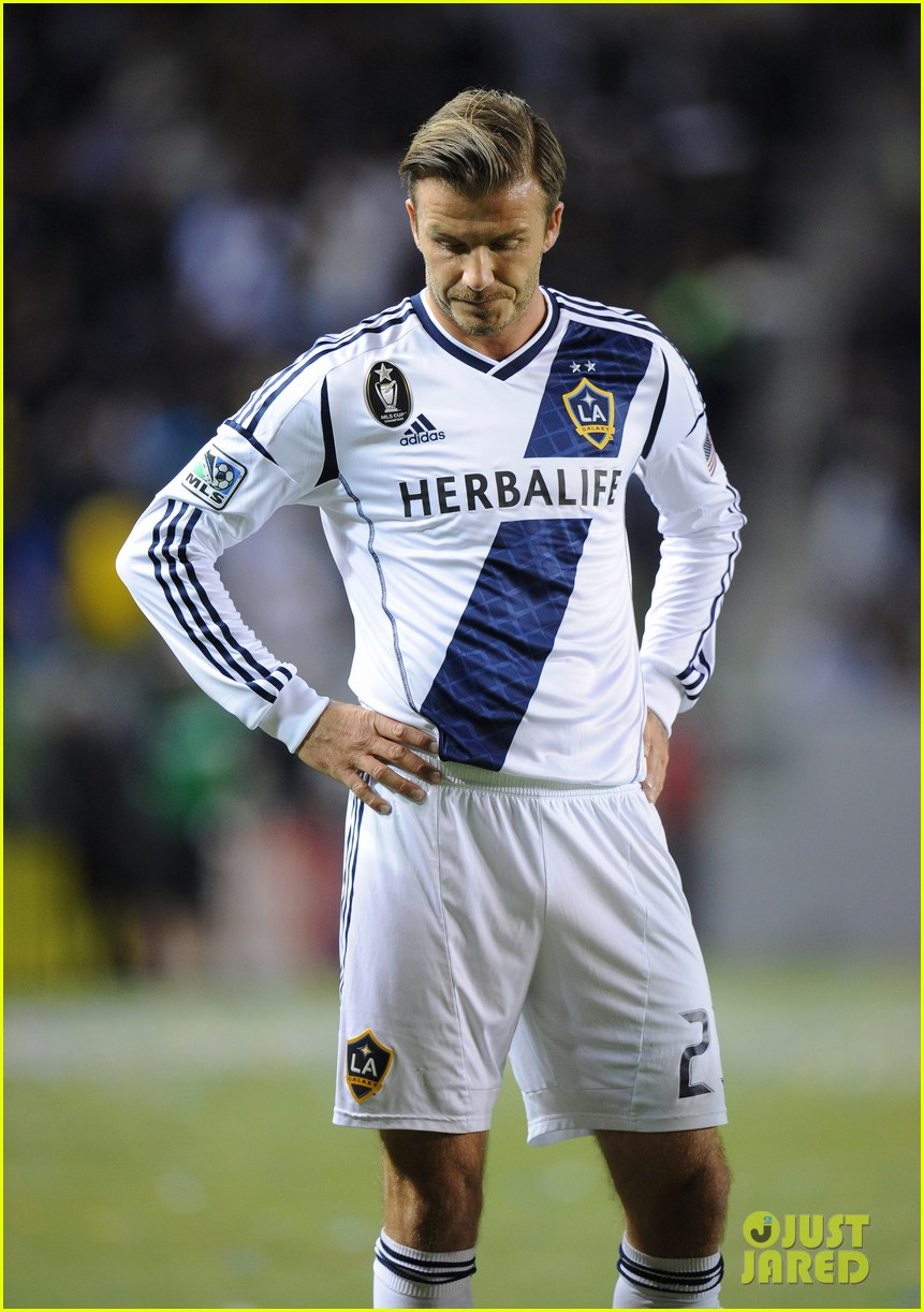 david beckham boys cheer him on at galaxy soccer game 072755896