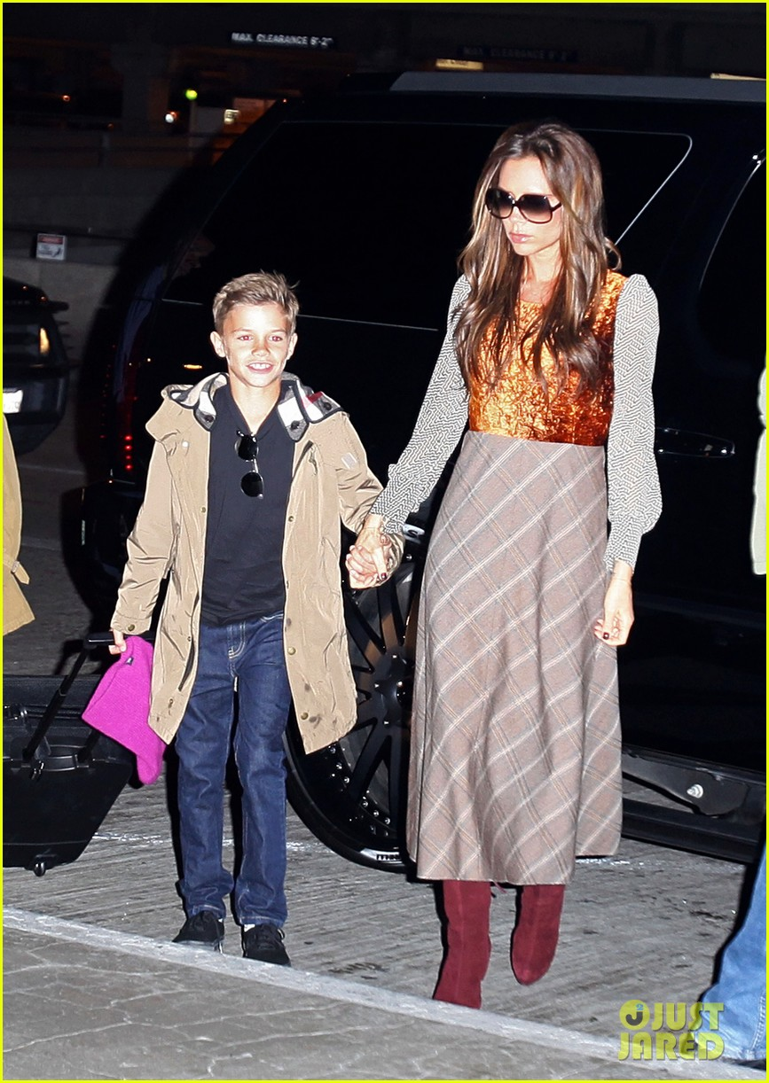 david victoria beckham depart lax with kids 032762424
