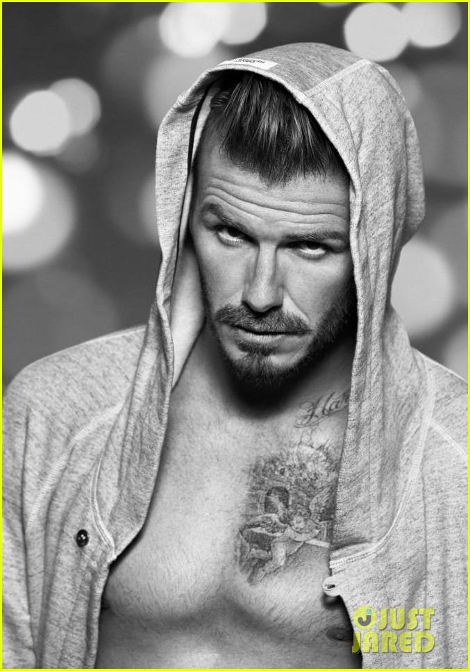 david beckham shirtless h m holiday promo shots 022753529
