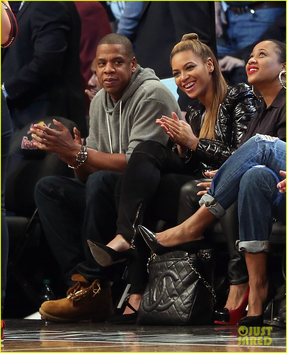 beyonce post thanksgiving nets game with jay z 022764117