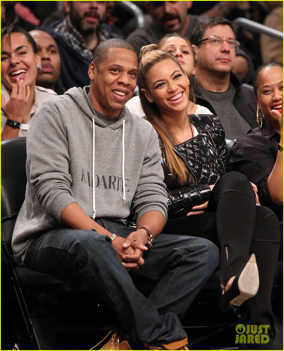 beyonce post thanksgiving nets game with jay z 032764118