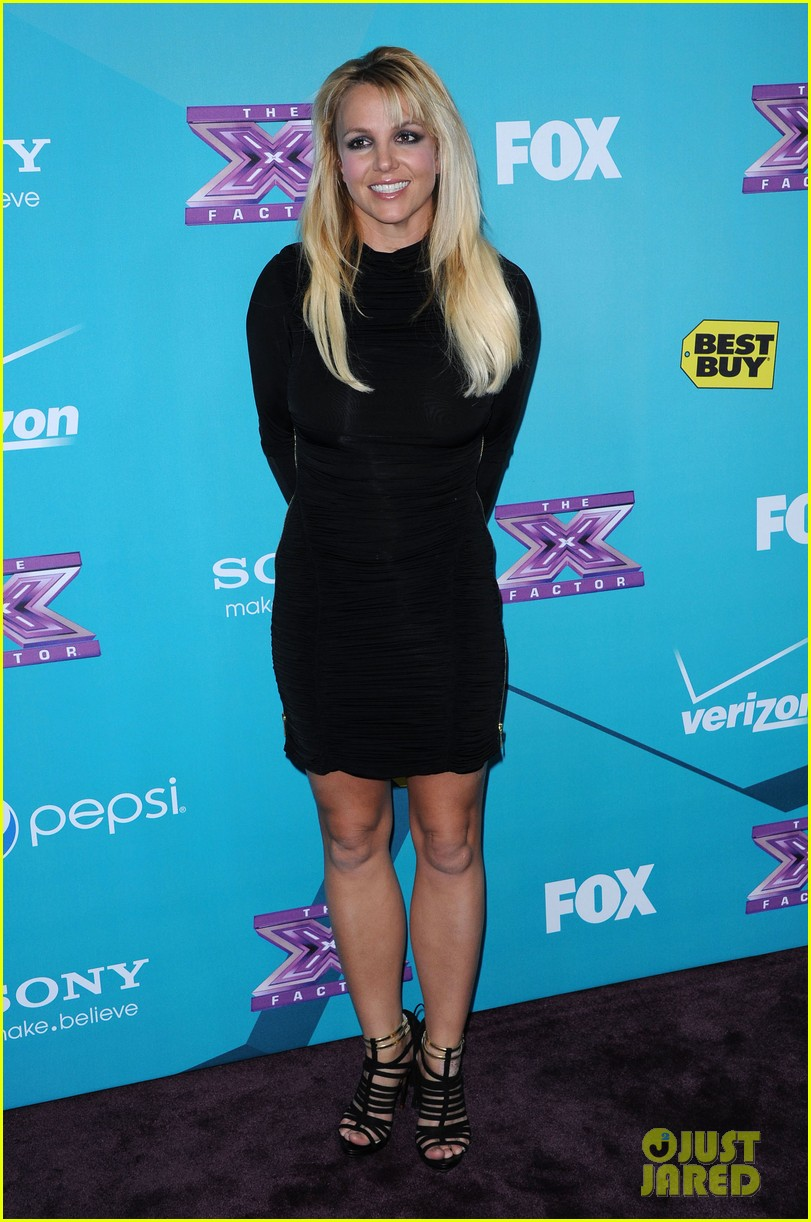 britney spears demi lovato x factor finalists party 09