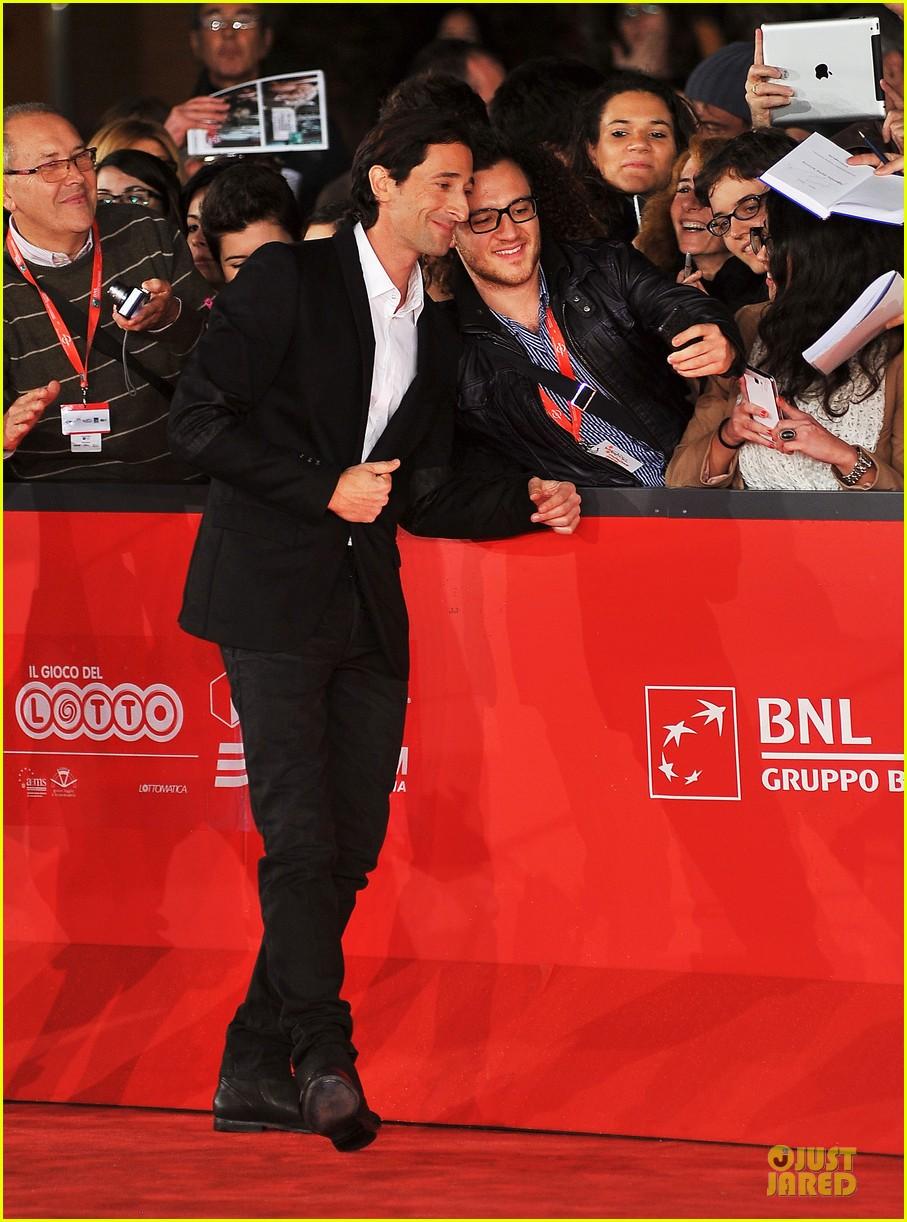 adrien brody lara lieto back to 1942 rome film festival premiere 082755676