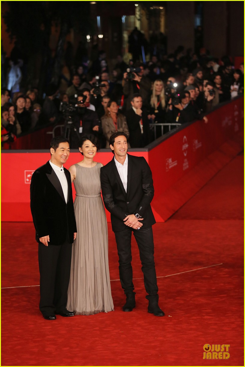 adrien brody lara lieto back to 1942 rome film festival premiere 12