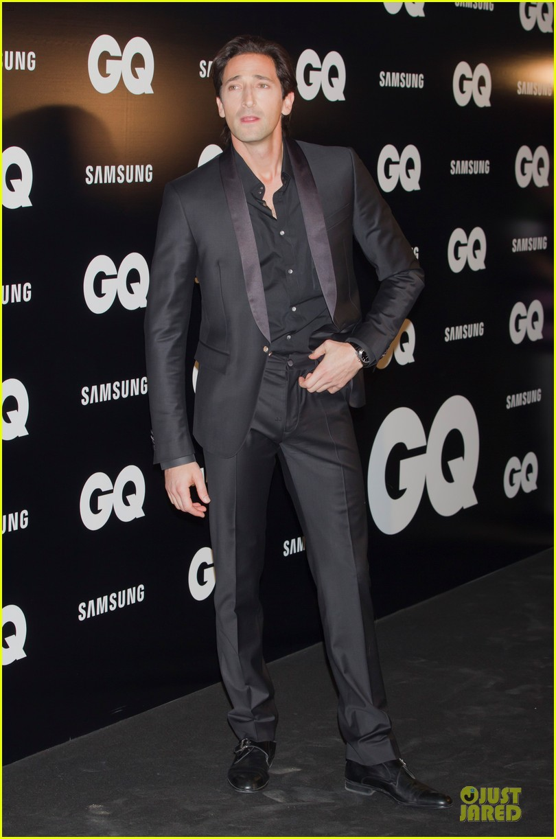 adrien brody lara lieto gq awards in madrid 032761185