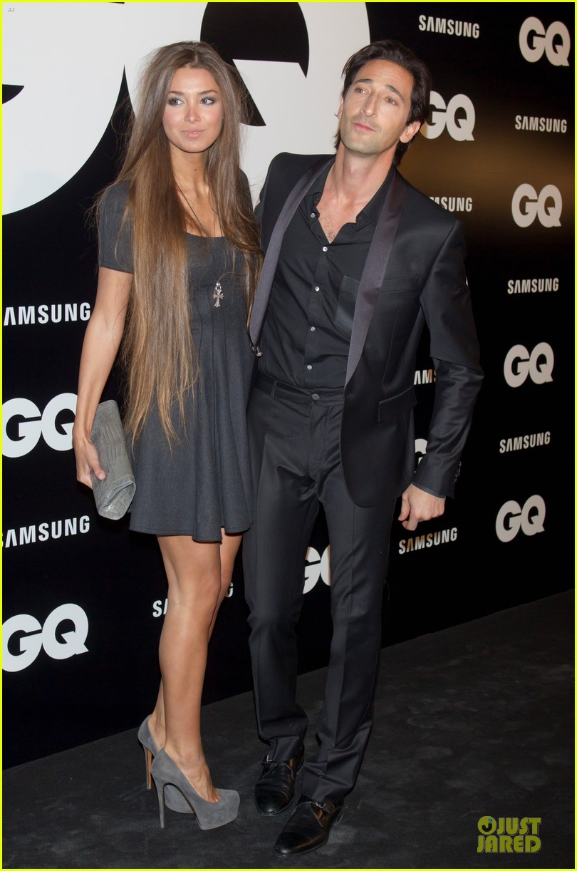 adrien brody lara lieto gq awards in madrid 09