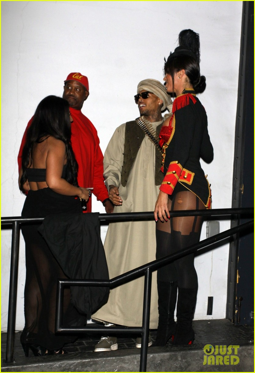 chris brown taliban robes for rihannas halloween party 022749363