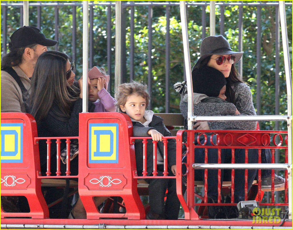 sandra bullock camila alves hang out with the kids 122757657