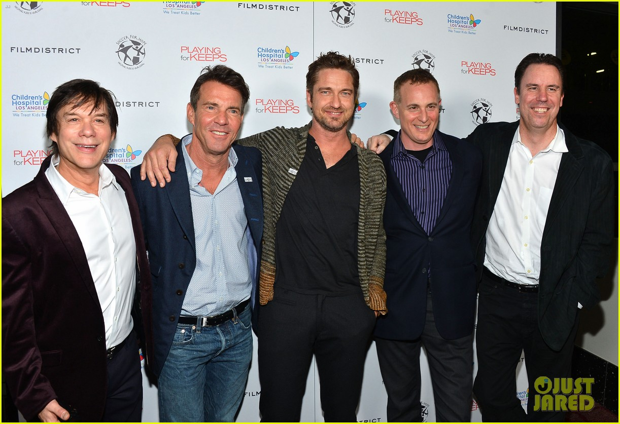 gerard butler playing for keeps childrens hospital screening 012765882