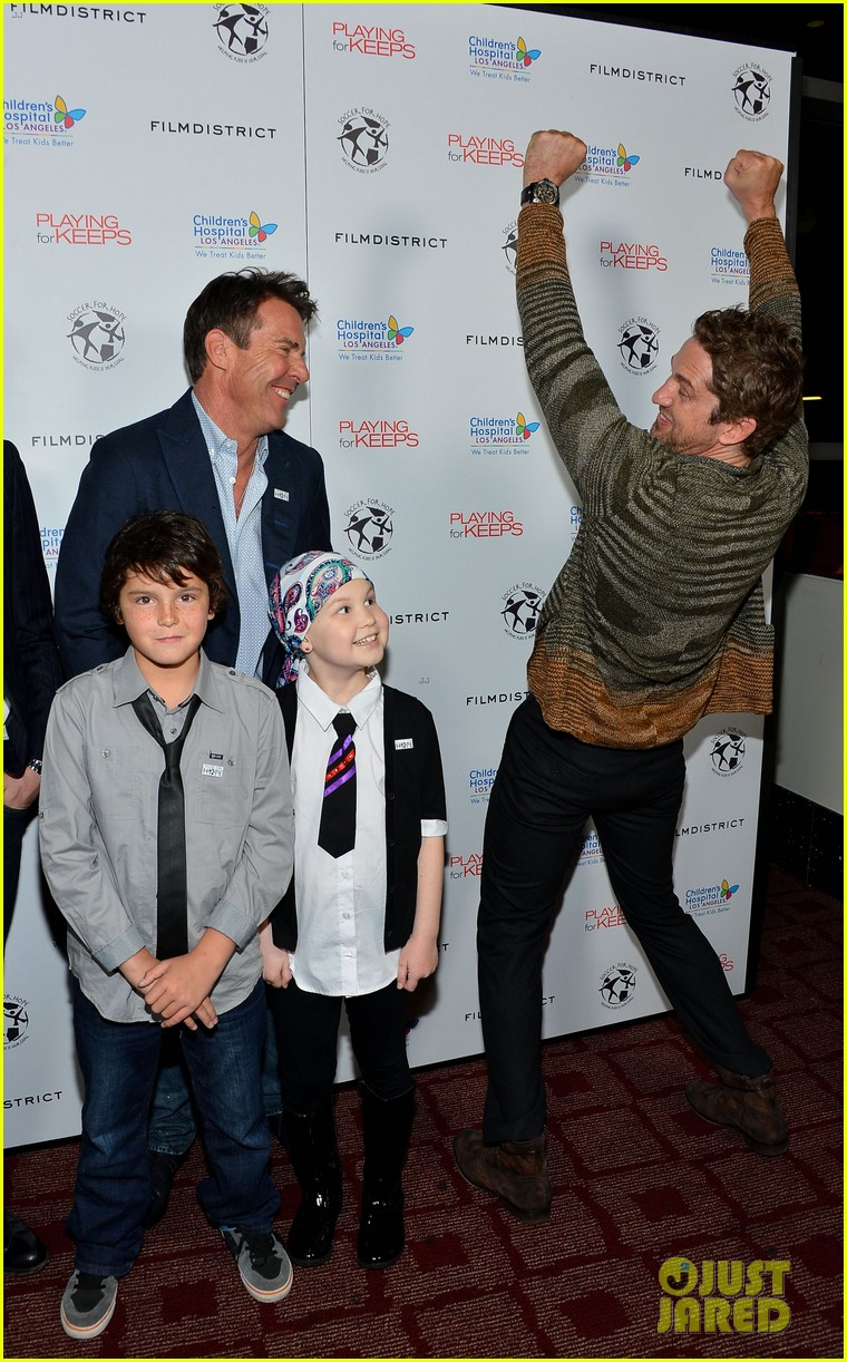 gerard butler playing for keeps childrens hospital screening 032765884