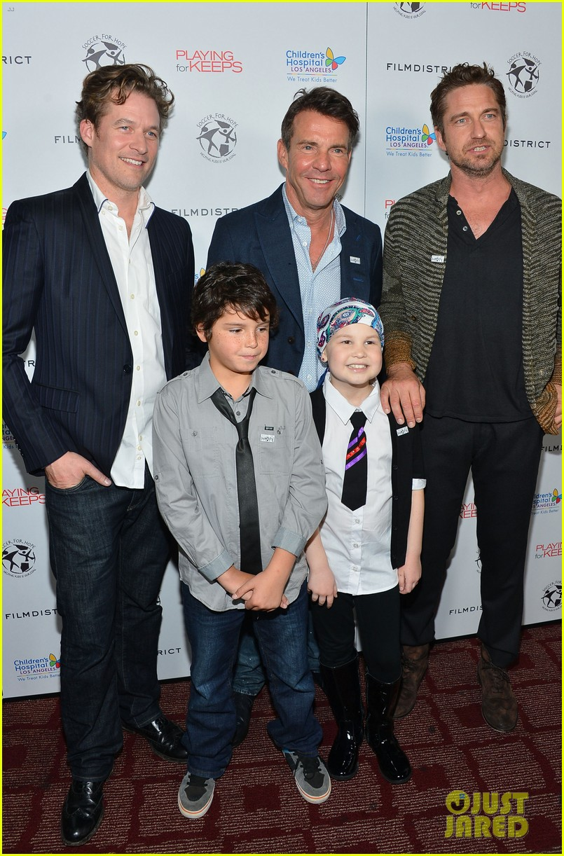 gerard butler playing for keeps childrens hospital screening 05