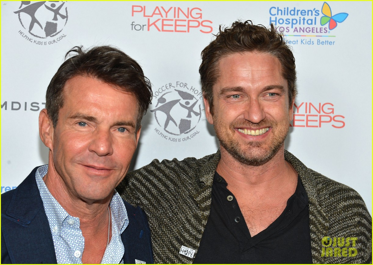gerard butler playing for keeps childrens hospital screening 152765896