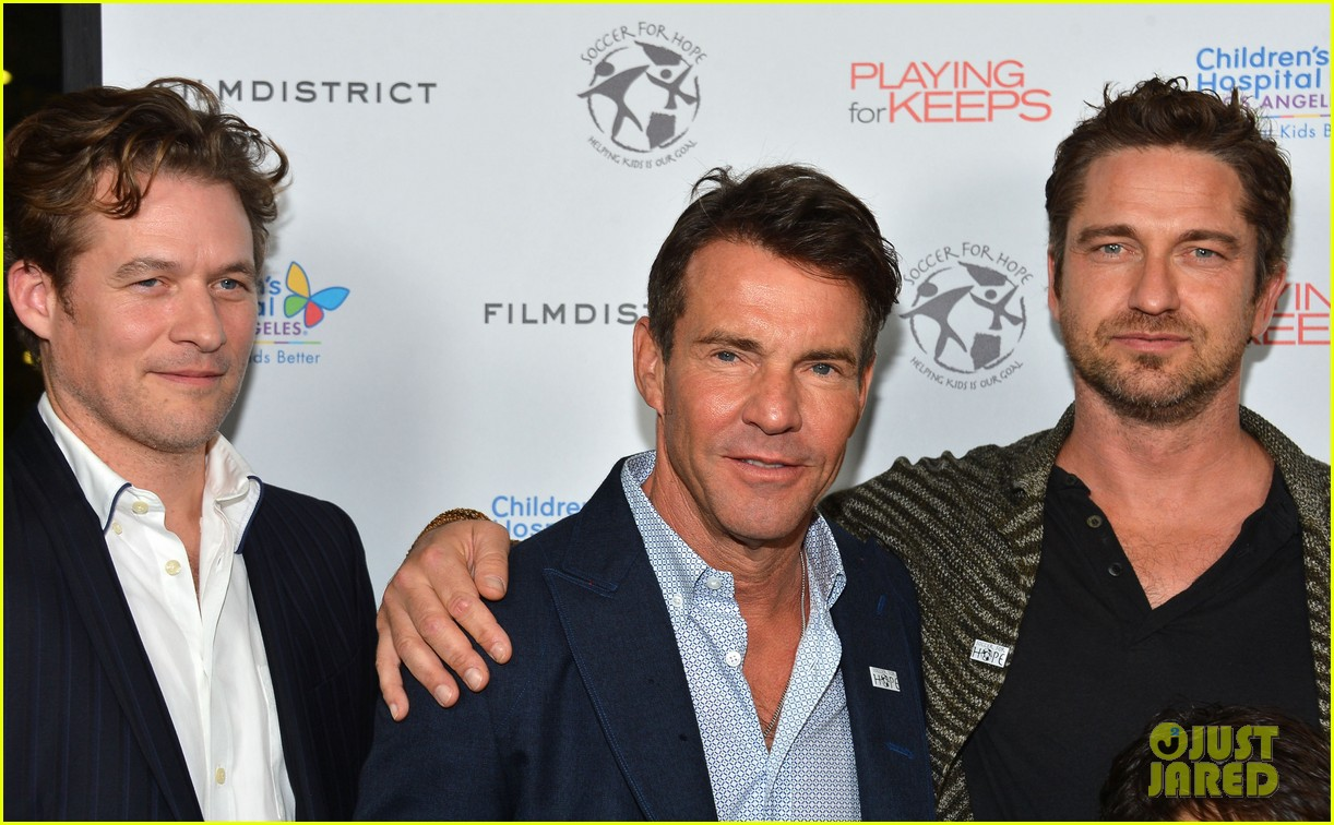 gerard butler playing for keeps childrens hospital screening 232765904