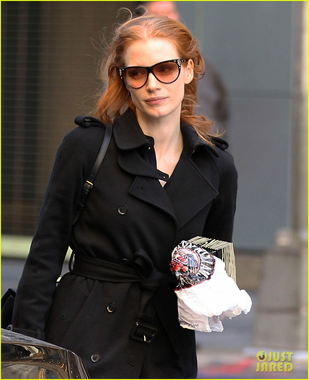 jessica chastain heiress arrival 022751490