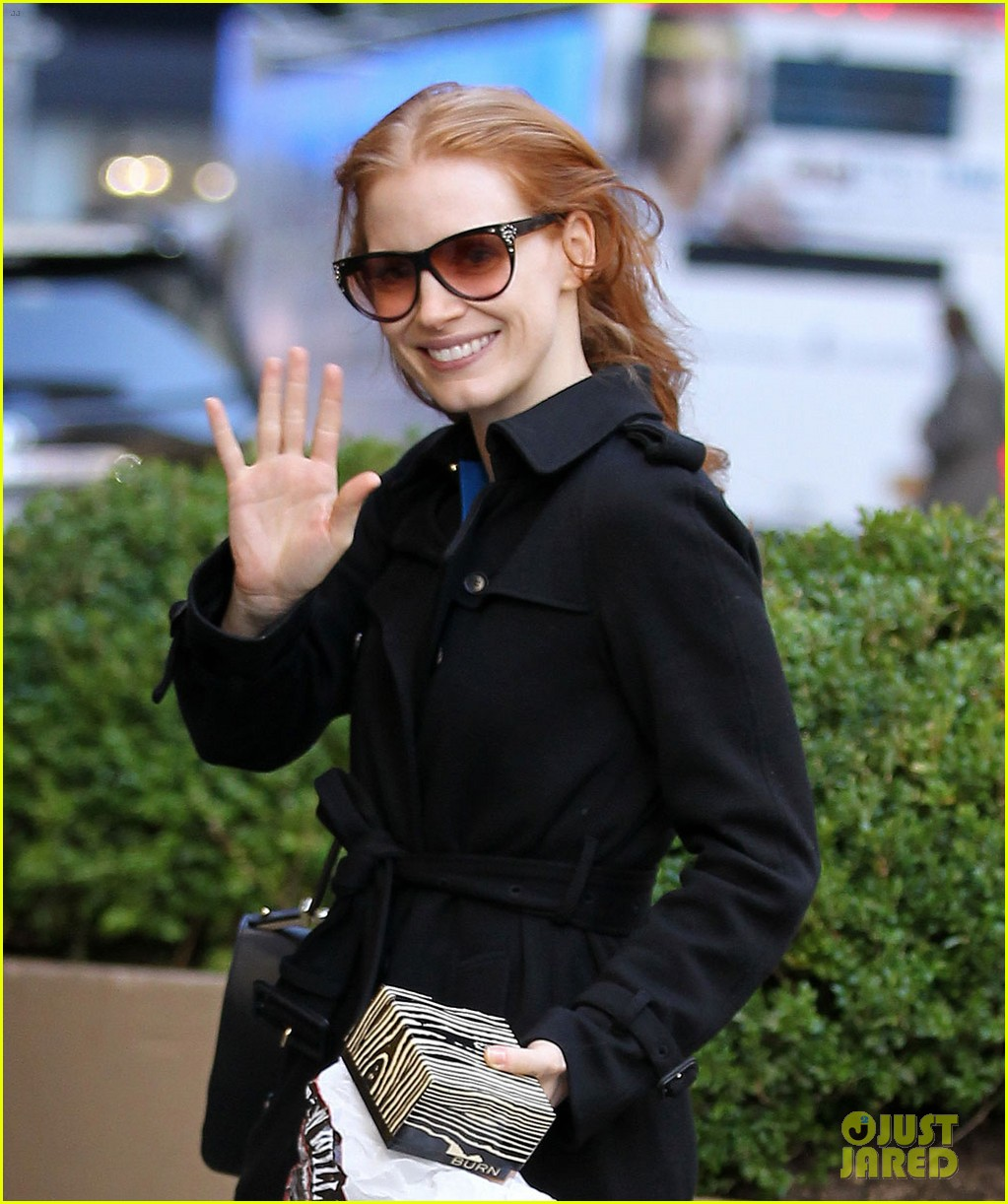 jessica chastain heiress arrival 042751492