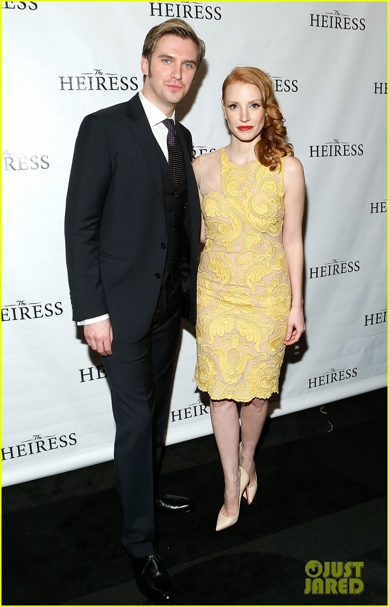 jessica chastain dan stevens heiress opening night 01