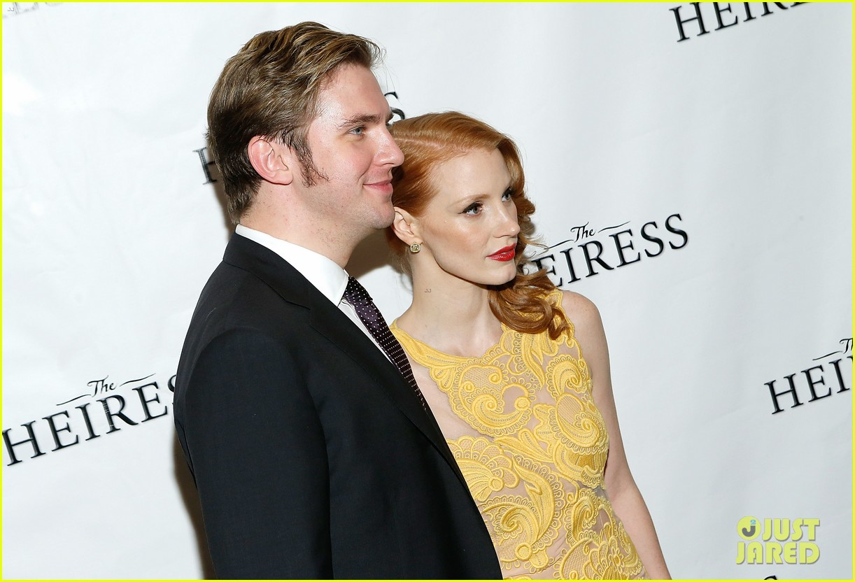 jessica chastain dan stevens heiress opening night 06