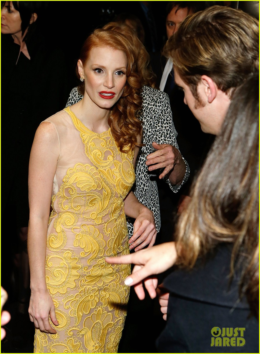 jessica chastain dan stevens heiress opening night 072749729